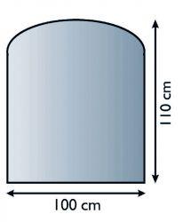Lienbacher 21.02.887.2 podkladové sklo pod kamna