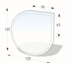 Lienbacher 21.02.888.2 podkladové sklo pod kamna
