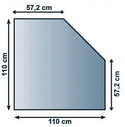 Lienbacher 21.02.982.2 podkladové sklo pod kamna