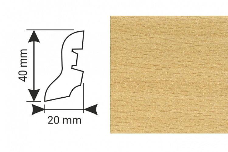 K-Produkt Buk B 54038 soklová lišta 40x20