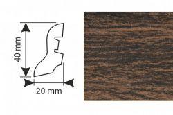 K-Produkt Dub dark 13517 soklová lišta 40x20 (10 ks / bal.)
