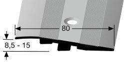 Küberit 268 zátěžový nájezdový profil 80 x 11 mm - zátěž do 2 t
