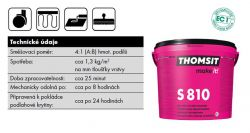 Thomsit S 810 2K polyuretanová stěrka
